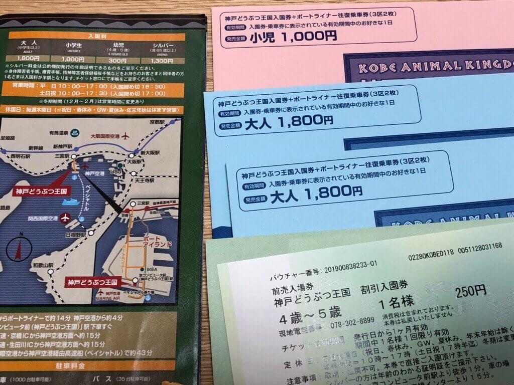 神戸どうぶつ王国のチケット