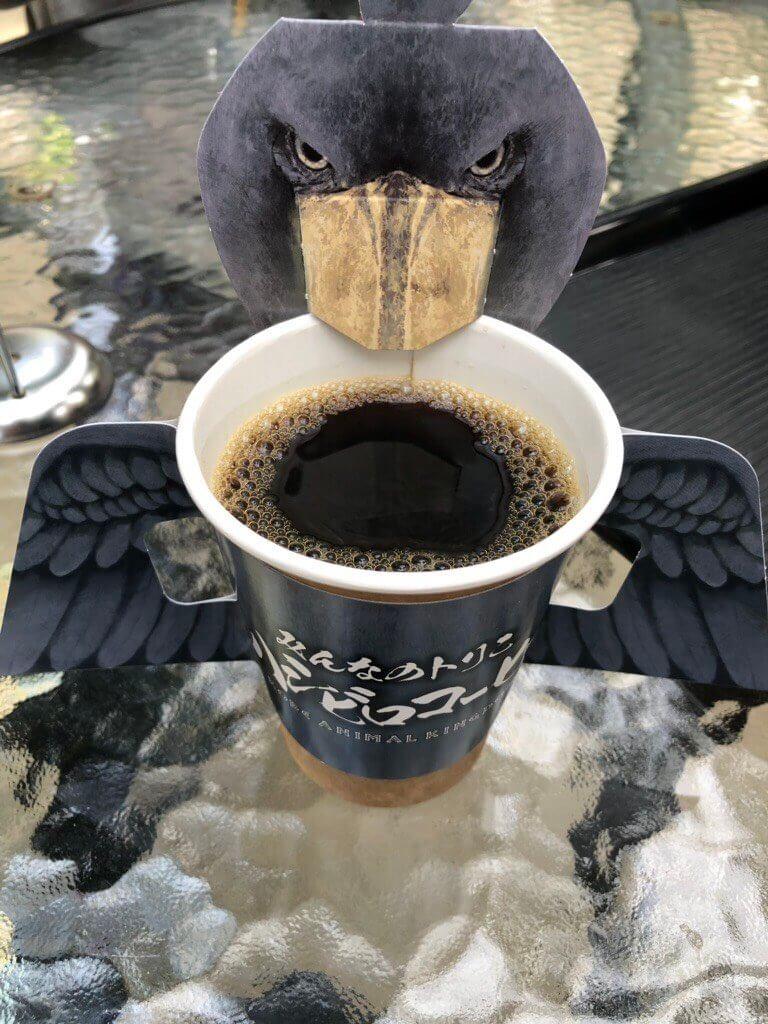 神戸どうぶつ王国のハシビロコーヒー