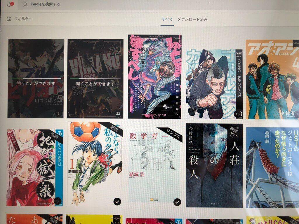 iPadのKindle画面2019年6月の状態